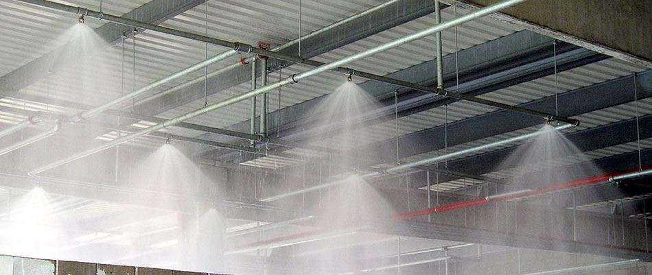 Дренчерные установки водяного пожаротушения