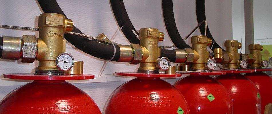 Модульное газовое пожаротушение