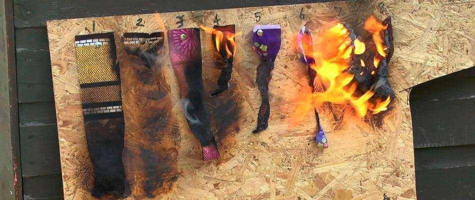 Огнезащитная обработка ткани
