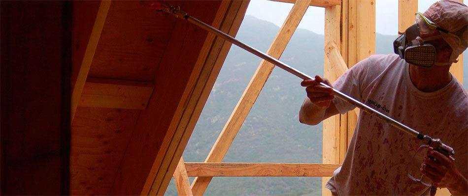услуги по огнезащитной обработке деревянных конструкций