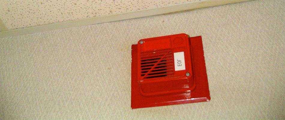 Монтаж систем звукового оповещения о пожаре