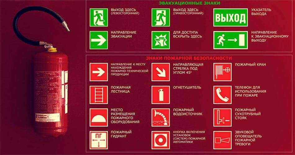 Размещение знаков пожарной безопасности в Москве