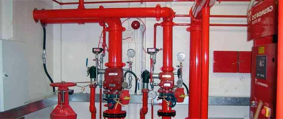 Проводим испытания спринклерной системы пожаротушения