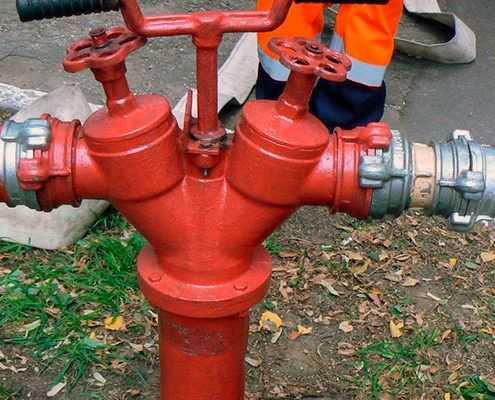 Обслуживание пожарных кранов в Москве